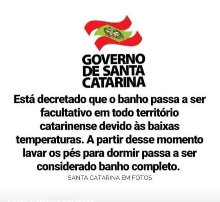 Meme Banho em Santa Catarina